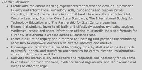 Teacher Librarian Roles | Readnlearn | Scoop.it