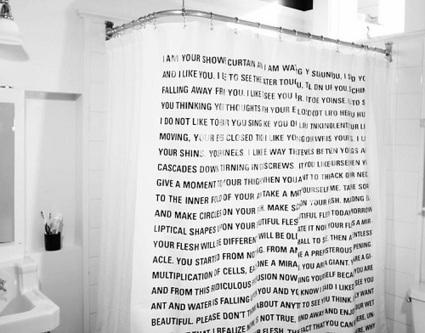 De la scène à la douche : rideau, ou la littérature qui mousse | BiblioLivre | Scoop.it