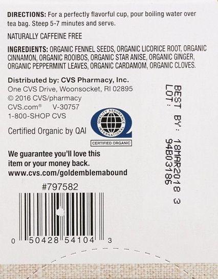 CVS recalls organic herbal tea for salmonella risk - Fox News   Backstabber Watch   Scoop.it