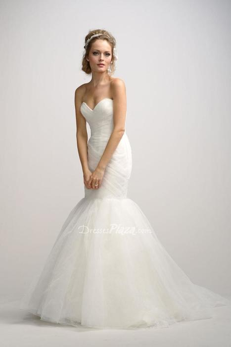 Tulle Sweetheart Strapless Fit and Flare Floor Length Sweep Train Wedding Dress | Designer Bridesmaid Dress 2014 | Scoop.it