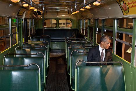::: BONUS ::: Obama sits on the famed Rosa Parks bus ❘ 2012 ❘ Pete Souza (photographe officiel de la Maison blanche) | # HISTOIRE DES ARTS - UN JOUR, UNE OEUVRE - 2013 | Scoop.it