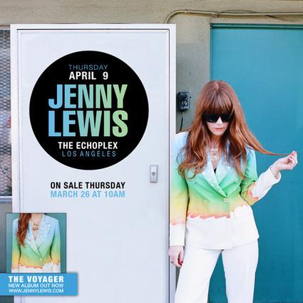 #EPTICKETGIVEAWAY: The Echo Presents Jenny Lewis at the Echoplex 4/9  | Ellenwood | MUSIC NEWS | Scoop.it