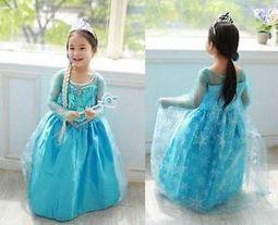 2014 Frozen Disney Princess Queen Elsa Anna Cosplay Party Fancy Dress 4-5Y B | contemporary fashion design | Scoop.it