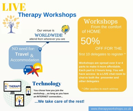 LIVE WORKSHOPS From the comfort of your own home | Therapy stuff | Scoop.it