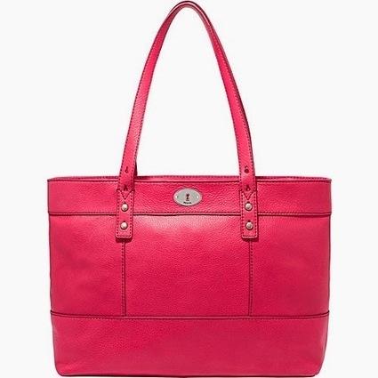Review Tas Branded Wanita Terbaru: Tas Fossil Hunter Shopper-Flaminggo Pink | Tas Wanita Cantik | Scoop.it