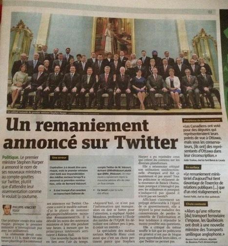 Un remaniement annoncé sur Twitter | Tout sur les réseaux sociaux | Scoop.it
