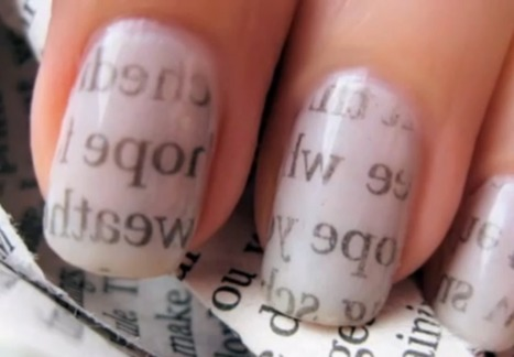 How to Make Newspaper Nails | Alyssa's fun stuff | Scoop.it