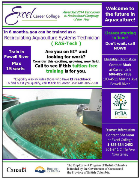 Tuition Free Training as a Recirculating Aquaculture Systems Technician | Aquaculture Directory | Scoop.it
