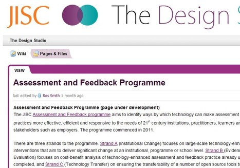 The Design Studio / Assessment and Feedback Programme | e-Assessment in Further and Higher Education | Scoop.it
