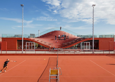 MVRDV's tennis clubhouse has a seating bowl on the roof | Inspired By Design | Scoop.it