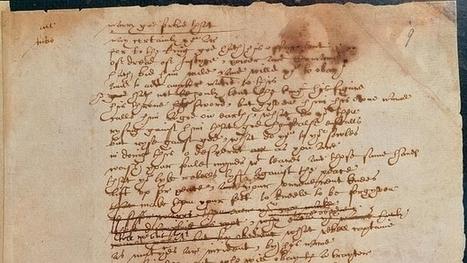 El único manuscrito de Shakespeare, en la Red   Humanidades digitales   Scoop.it