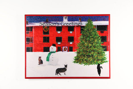 Cat Christmas Wall Art- 3 Cats in Snow | Christmas Cat Ornaments and Cards | Scoop.it