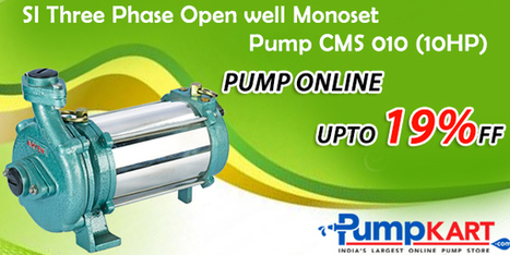 SI Three Phase Open well Monoset Pump CMS 010 (10HP) | Agriculture pumps | Scoop.it