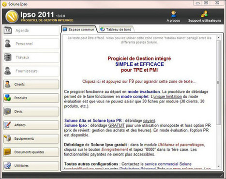 Solune IPSO 2011 : Progiciel de gestion intégré gratuit | Time to Learn | Scoop.it