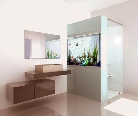 Built-In Tropical Bathroom Aquarium | Art, Design & Technology | Scoop.it