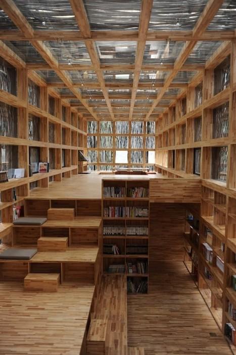 Liyuan Library by Li Xiaodong Atelier » CONTEMPORIST | Licence professionnelle : Métiers des bibliothèques et de la documentation | Scoop.it