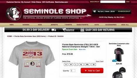 FSU's Online Store Got the Final Score of the National Championship Game ... - SI.com | online shopping | Scoop.it
