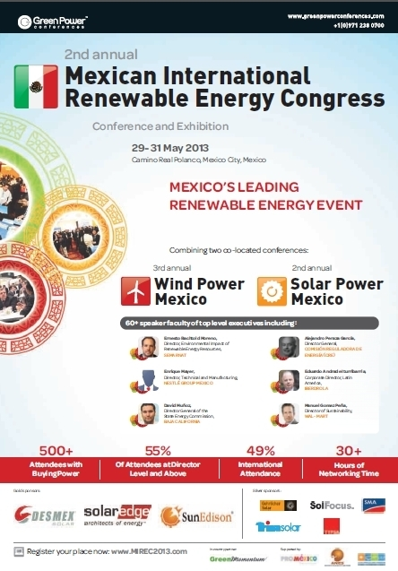 LAST CHANCE TO REGISTER for Mexico's largest renewable energy event! | Renewables Mexico | Scoop.it