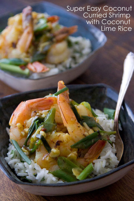 Coconut Curried Shrimp with Coconut Rice | À Catanada na Cozinha Magazine | Scoop.it