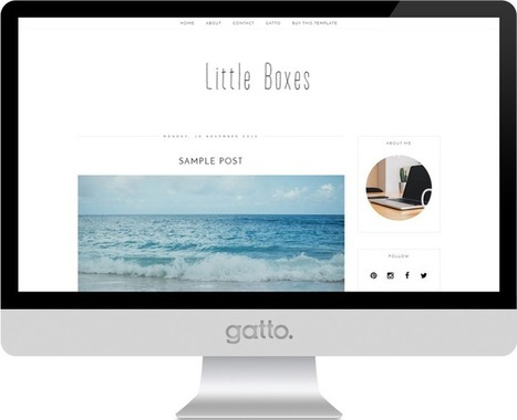 Little Boxes Premade Blogger Template | Blogger themes | Scoop.it