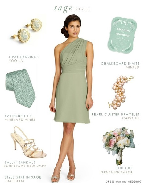 Sage green bridesmaid dresses styles you can copy 2015 - weddingfashion | dressesfashion | Scoop.it