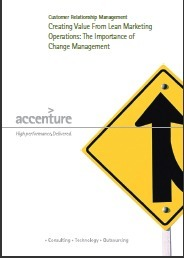 White Paper - Creating Value From Lean Marketing Operations: The Importance of Change Management | Change Management ressources | Scoop.it