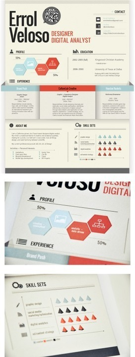 50 Inspiring Resume Designs: And What You Can Learn From Them – Design School   Graphics Design Without limitations   Scoop.it