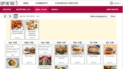 Copy Me That Is a Free, Excellent Meal Planner That Works on Every Device   Bazaar   Scoop.it