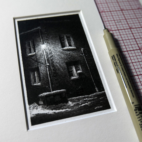 #Miniature #Pen & #Ink #Drawings of the #Midwest by Taylor Mazer. #art #buildings | Luby Art | Scoop.it