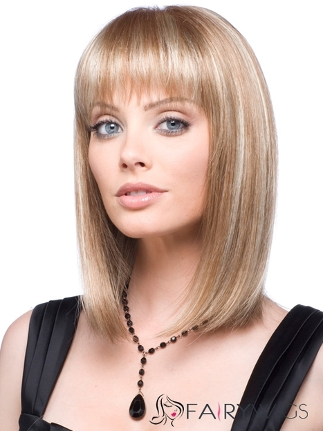 Beautiful Short Wavy Brown Full Bang Human Wigs for Women 12 Inch : fairywigs.com | Human Hair Wigs | Scoop.it