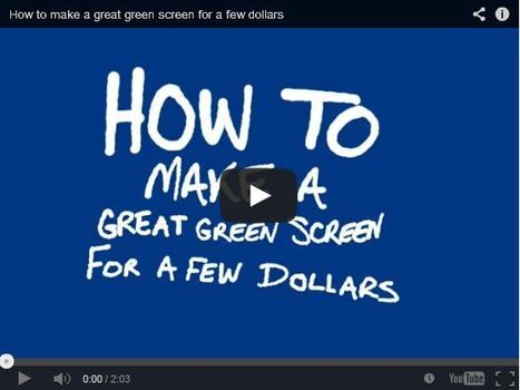 iPad Creative - iPad Creative - Video: How to Make a Green Screen | ipadinschool | Scoop.it