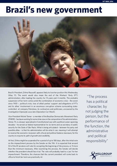 MSLGROUP - Brazil's New Government | Public Relations | Scoop.it