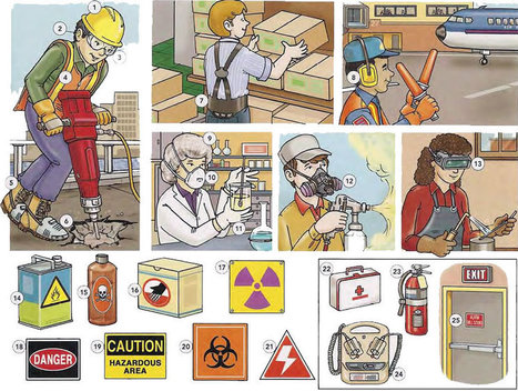 Job safety with health and safety signs Vocabulary PDF - Learning English vocabulary and grammar | Learning Basic English, to Advanced Over 700 On-Line Lessons and Exercises Free | Scoop.it