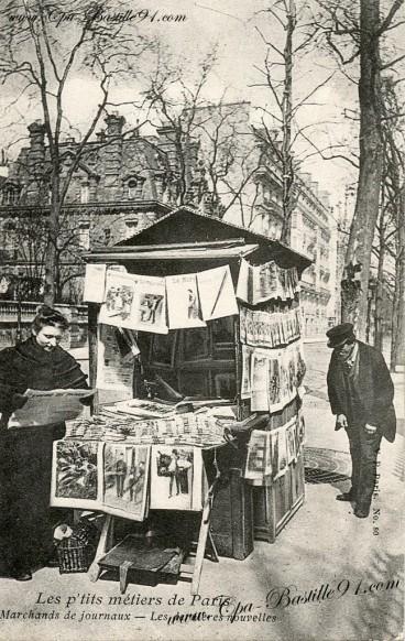 Carte Postale -Les p'tits métiers de Paris-Marchands de journaux | Cartes Postales Anciennes | GenealoNet | Scoop.it