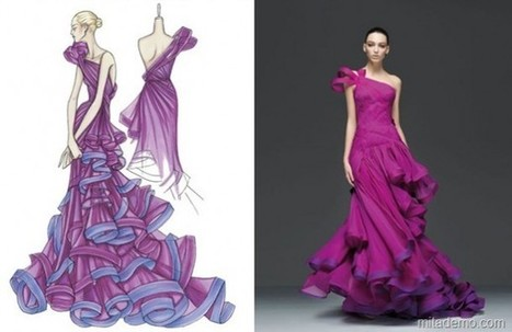 From Sketch to Dress - Fashion Design - Artists Inspire Artists | fashion designing new ideas | Scoop.it