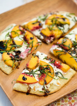 Summer Peach and Balsamic Pizza - Recipes, Dinner Ideas, Healthy Recipes & Food Guide | ~ * ~ Family & Friendship & Food ~ * ~ | Scoop.it