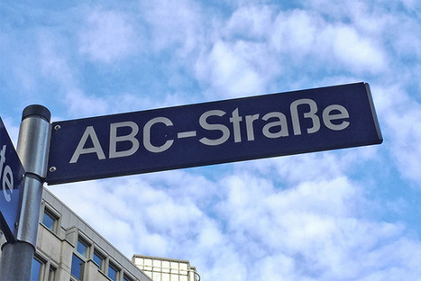 Google Germany's Street Sign ABC-Strasse | internet marketing | Scoop.it