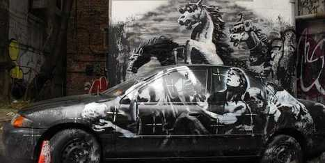 Banksy Paints Horses In Night-Vision Goggles - Business Insider | Nature | Scoop.it