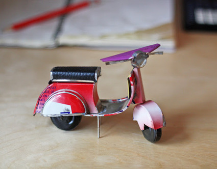 Vespa made from recycled packaging | Vespa Stories | Scoop.it