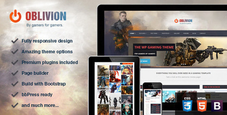 Oblivion - The Ultimate Multi-Purpose Gaming Theme Download | wordpress themes | Scoop.it
