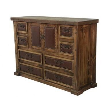 Laguna Rustic Wood Dresser With Leather Panels | Laguna Rustic Wood Dresser With Leather Panels | Scoop.it