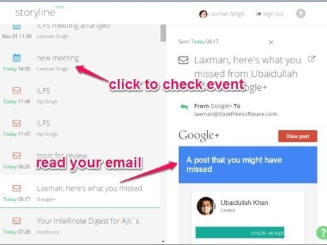 See Gmail, Calendar, Docs At A Single Place with Storyline | Time to Learn | Scoop.it