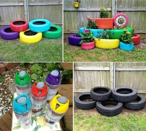 Recycling Old Tires Into Nice Garden Decoration   The alternative garden   Scoop.it