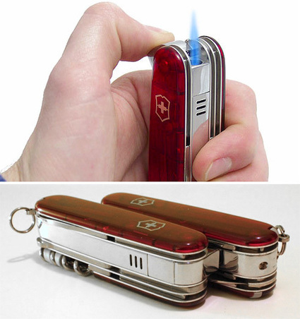 I Had No Idea Victorinox Made Swiss Army Knives With Built-in Lighters | OhGizmo! | News coutellerie internationale | Scoop.it
