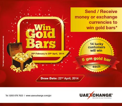 UAE Exchange launches Win Gold Bars Promotion in United Kingdom | UAE Exchange | Scoop.it
