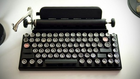 Qwerkywriter, le clavier ordinateur rétro | w3sh.com | Seniors | Scoop.it