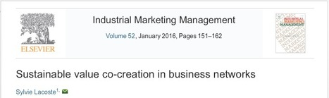 Sustainable value co-creation in business networks   Key account management   Scoop.it