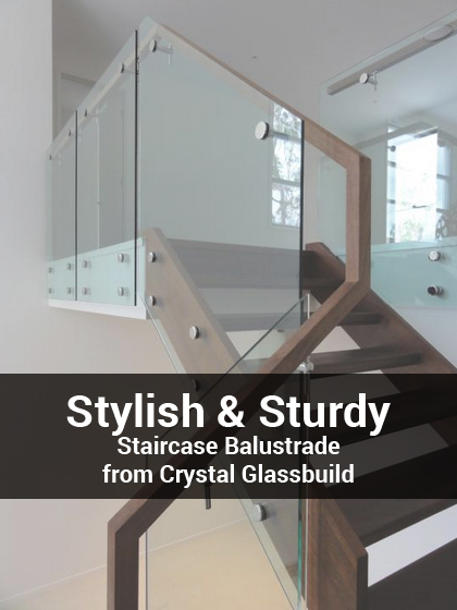 Stylish & Sturdy Staircase Balustrade from Crystal Glassbuild | Glass Fencing | Scoop.it
