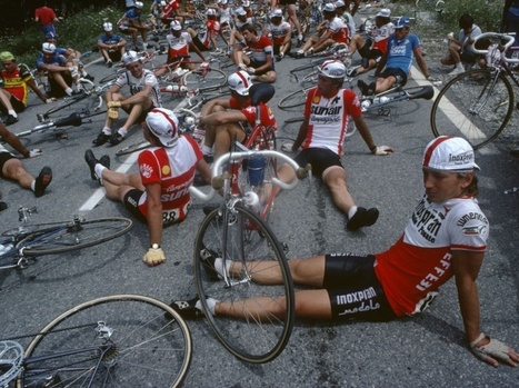 GRAND FORMAT. Dans le peloton du Tour de France... de 1982 | L'actualité de l'argentique | Scoop.it