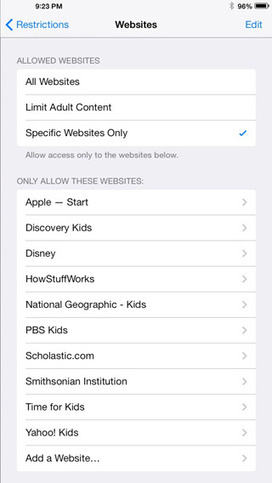 Two iOS 7 features Parents will Love   Be Web Smart   Educational Technology Grab Bag   Scoop.it